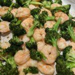 Sheet Pan Roasted Broccoli with Shrimp