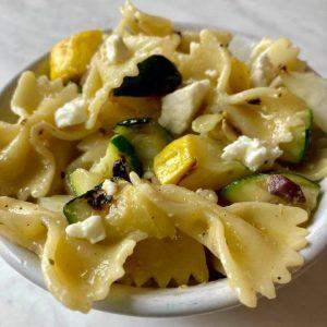 Zucchini and Yellow Squash Pasta Salad