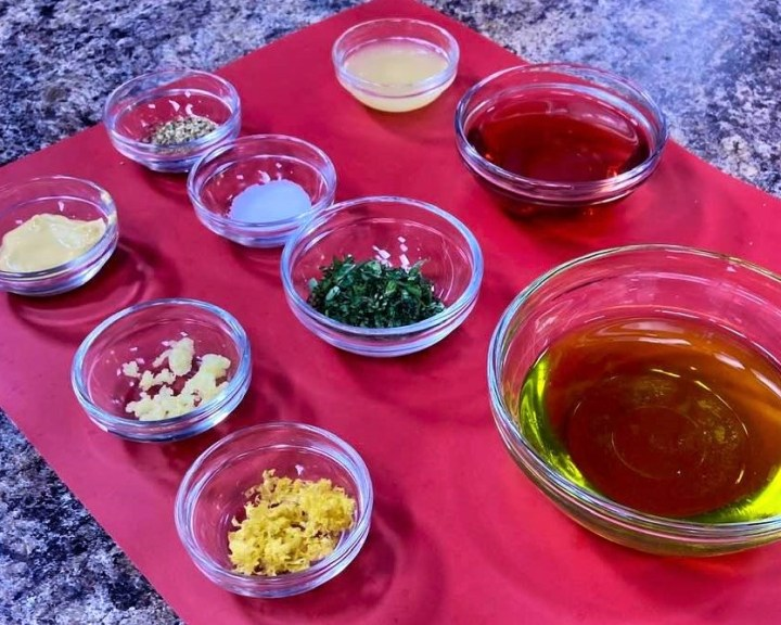 Zucchini and Yellow Squash Pasta Salad dressing