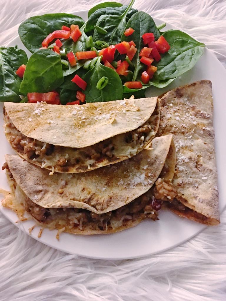 Enkle quesadillas på menyen