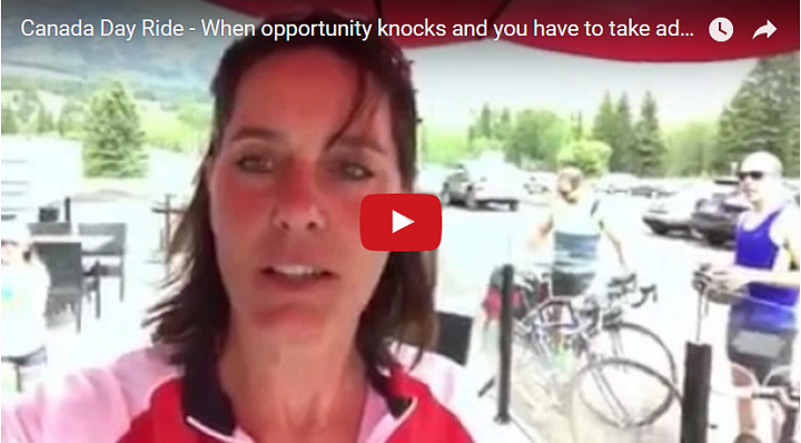 Canada Day Bike Ride – When opportunity knocks and you have to take advantage of it