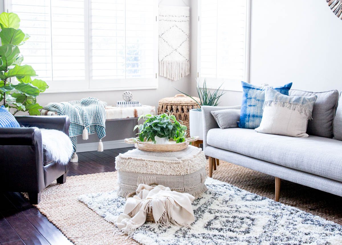 Find A West Elm Sofa Home Goods Boho Pouf Coffee Table