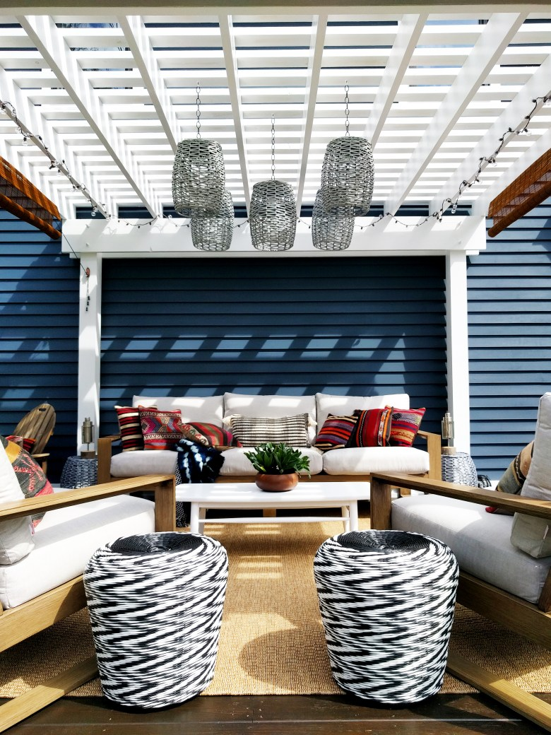 insieme house after patio boho look hanging lamps
