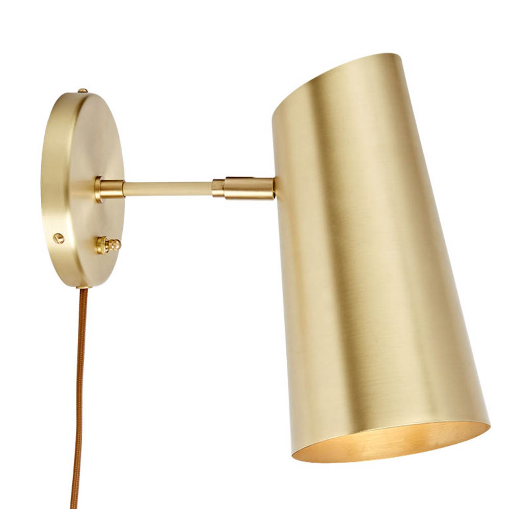 Rejuvenation Cypress Medium Brass Sconce