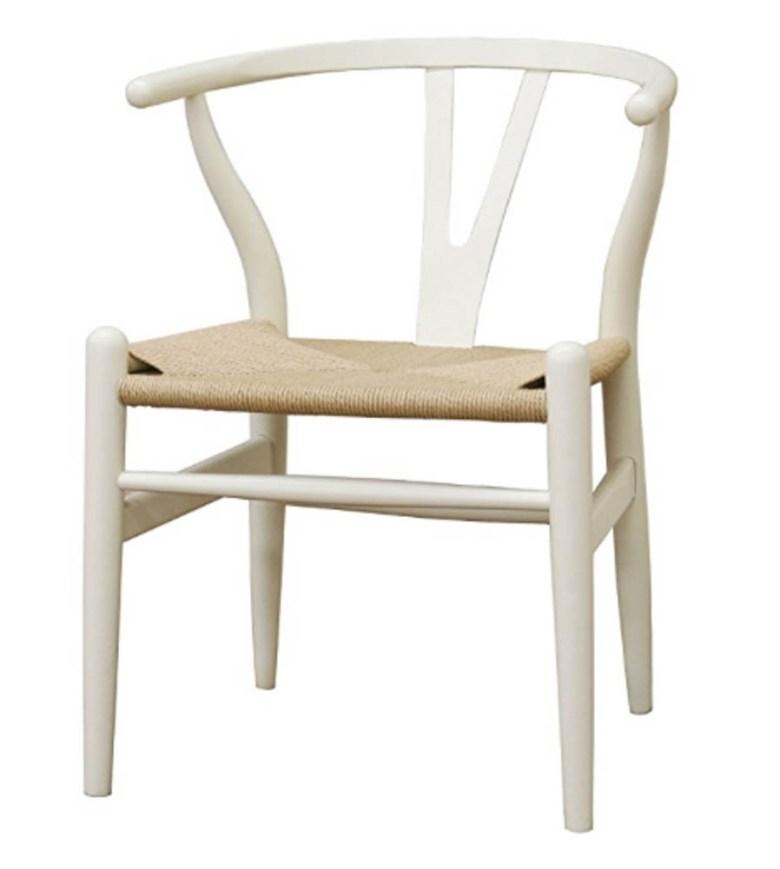 white amazon wishbone chair