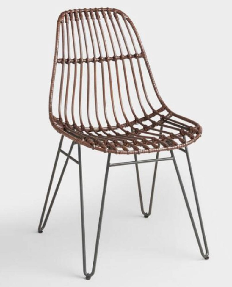 rattan dining chair hair pin legs world market