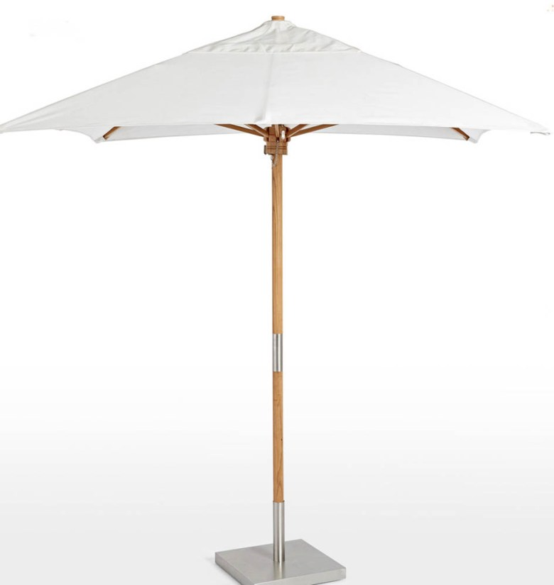 rejuvenation sunbrella white neutral umbrella