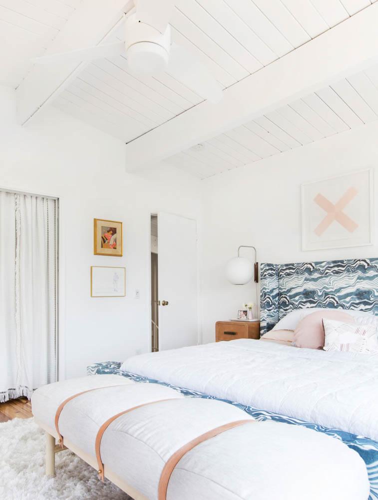 emily henderson master bedroom custom rebecca atwood bed frame katy skelton bench