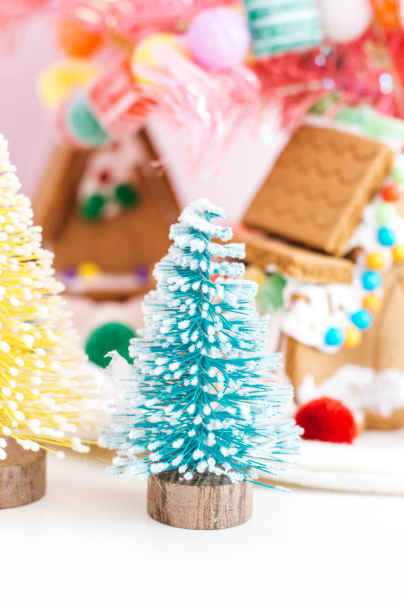 paper source blue bottle brush gingerbread house pink tree kids bedroom holiday style