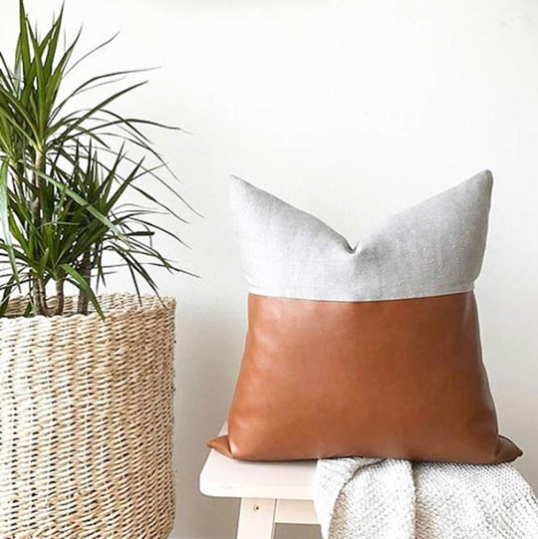 kaekoo rosetta grey pillow boho eclectic decor