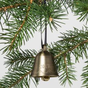 hand and hearth target bell ornament