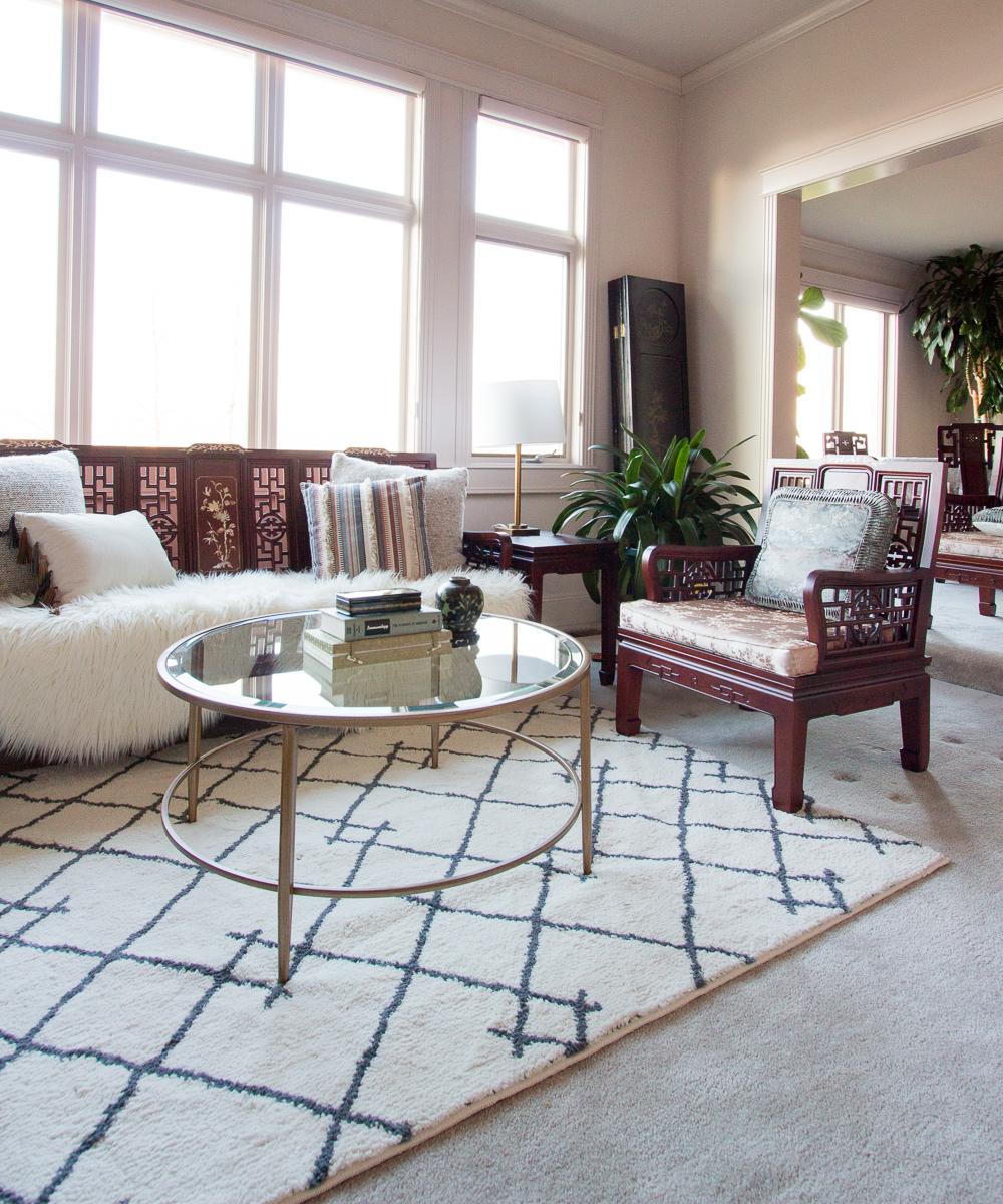 Asian Inspired Living Room mom's asian- inspired hygge living room refresh - anita yokota