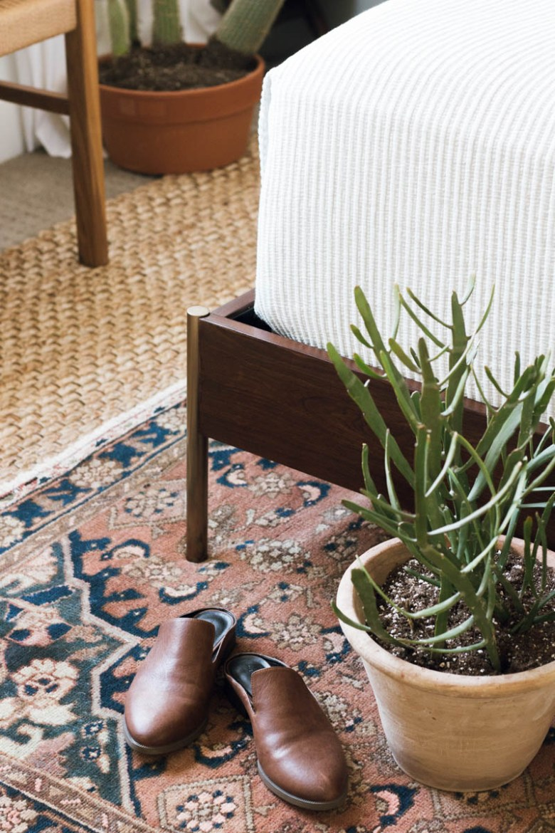 layered rugs mules euphorbia west elm bed