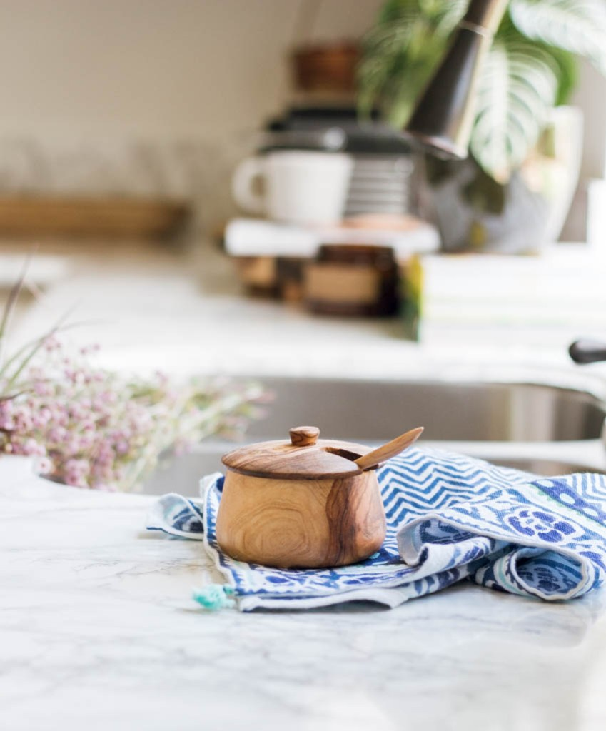 acacia salt box Anthropologie tea towel