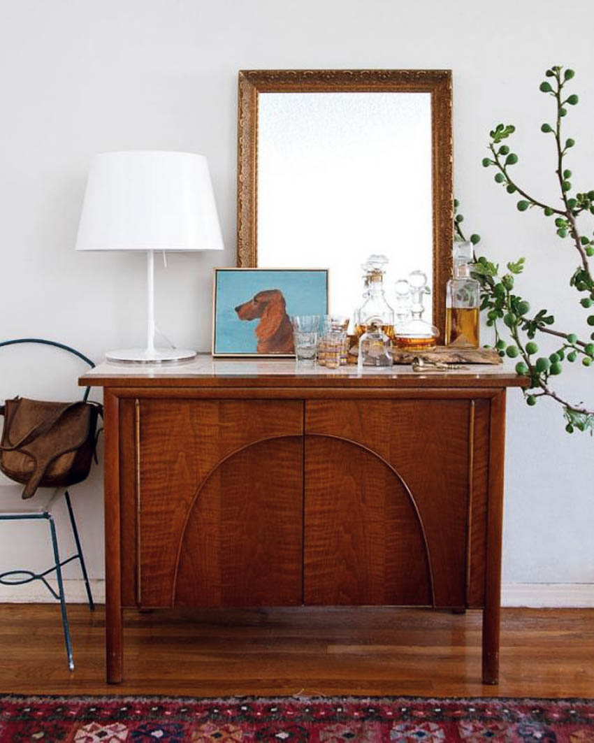 emily henderson credenza styling