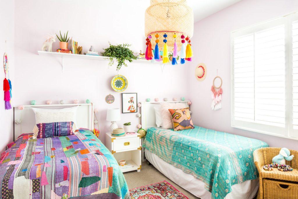 bohemian eclectic children bedroom shared bedroom girls