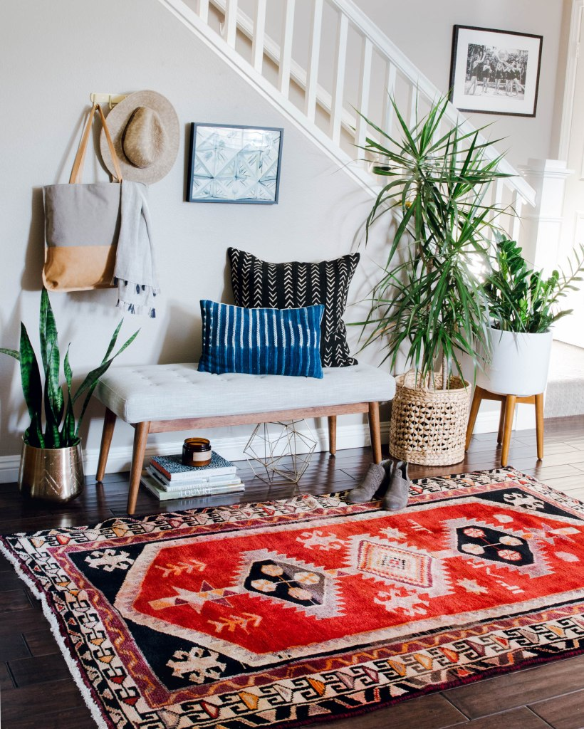 boho eclectic decor entry way