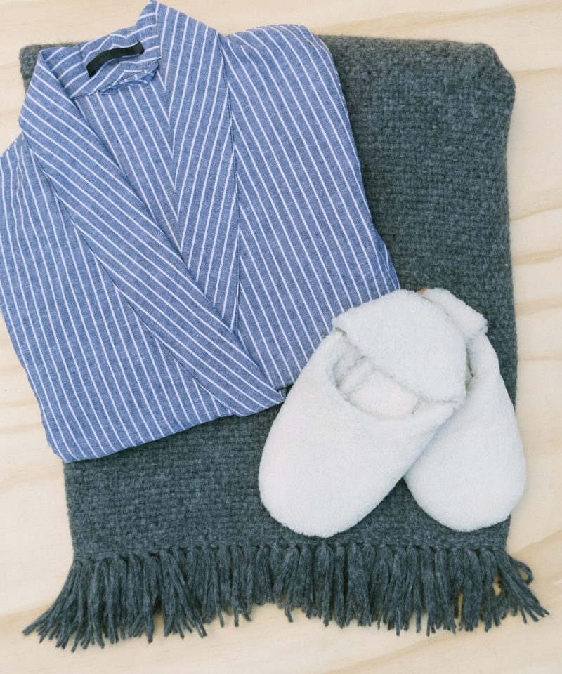 rip&tan bath robe throw slippers