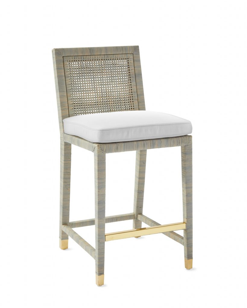 woven bar stool Serena and lily