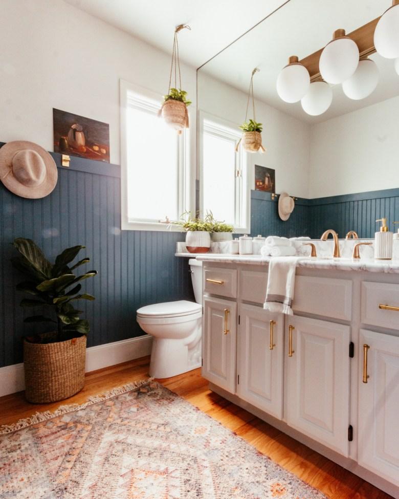 Anita Yokota method diy beadboard bathroom