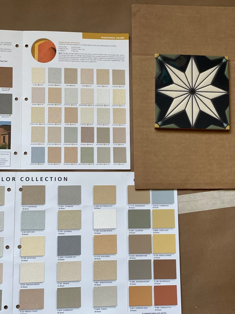 Playing with colors agains the fireclay tile we've selected