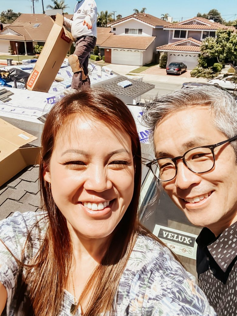 Anita & Travis Mid-project selfie