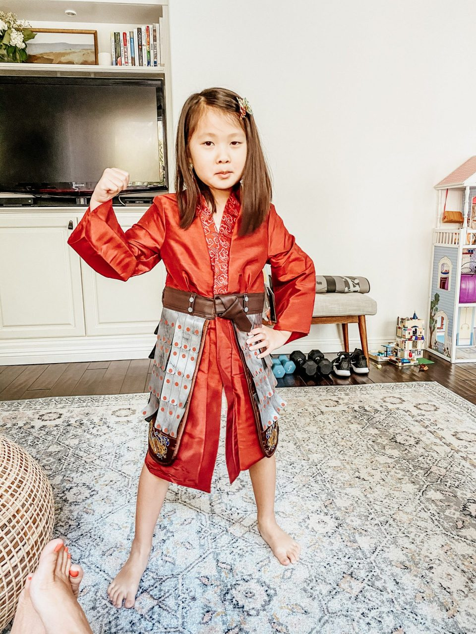 Natalie is dressing as Mulan for Halloween this year!