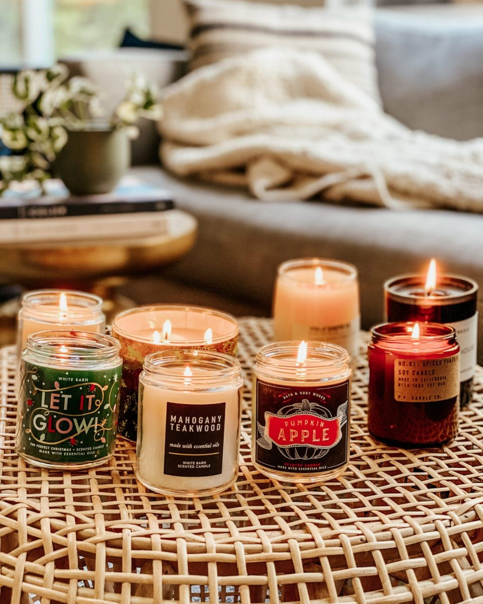 A cacophony of smells: all the candles lit at once!