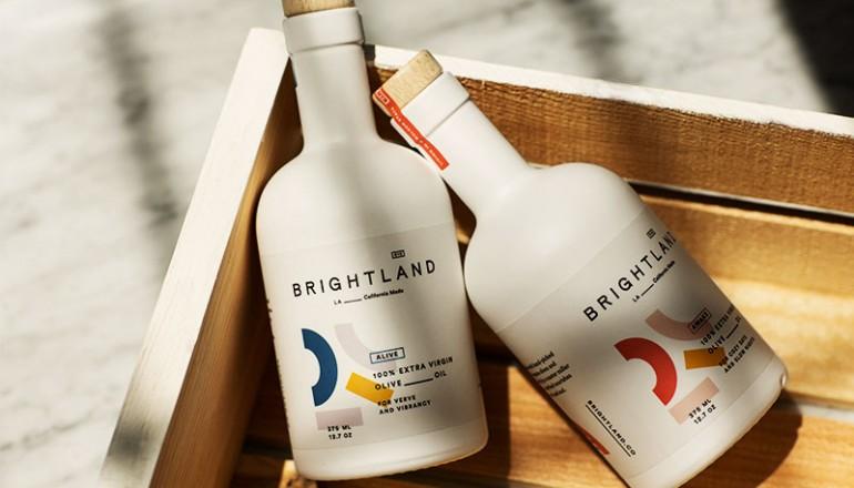 Brightland Olive Oil's beautiful bottles!