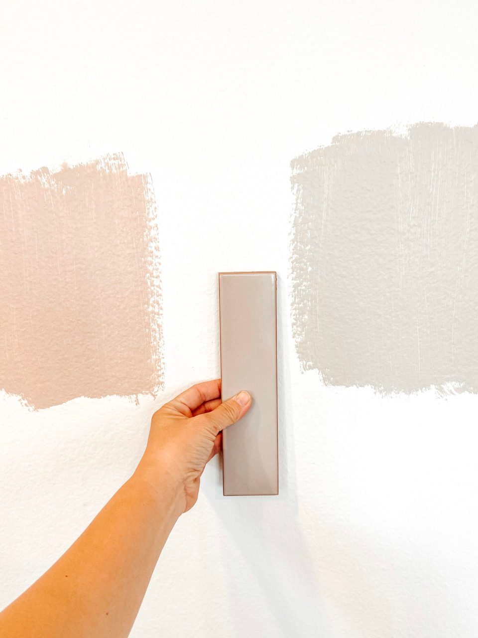 Choosing a paint color for the modern family command center