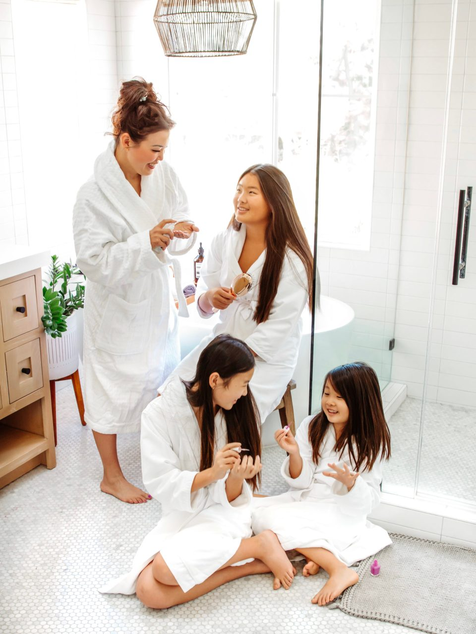 All the Yokota girls got into our spa day!