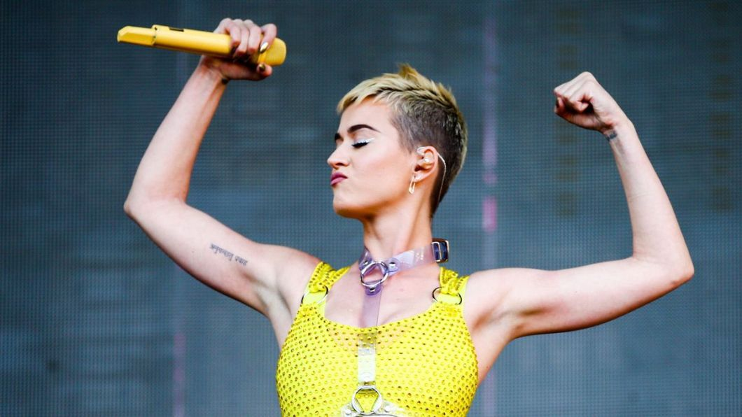 Miley Cyrus, er, we mean, Katy Perry performs at 102.7 KIIS FM's 2017 Wango Tango earlier this month in Carson, Calif.