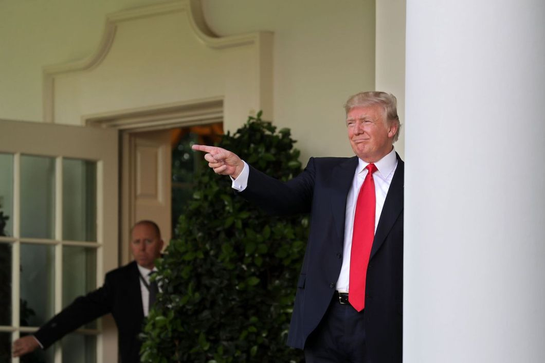 Trump at the White House, after announcing his decision to withdraw the U.S. from the Paris Climate Agreement.