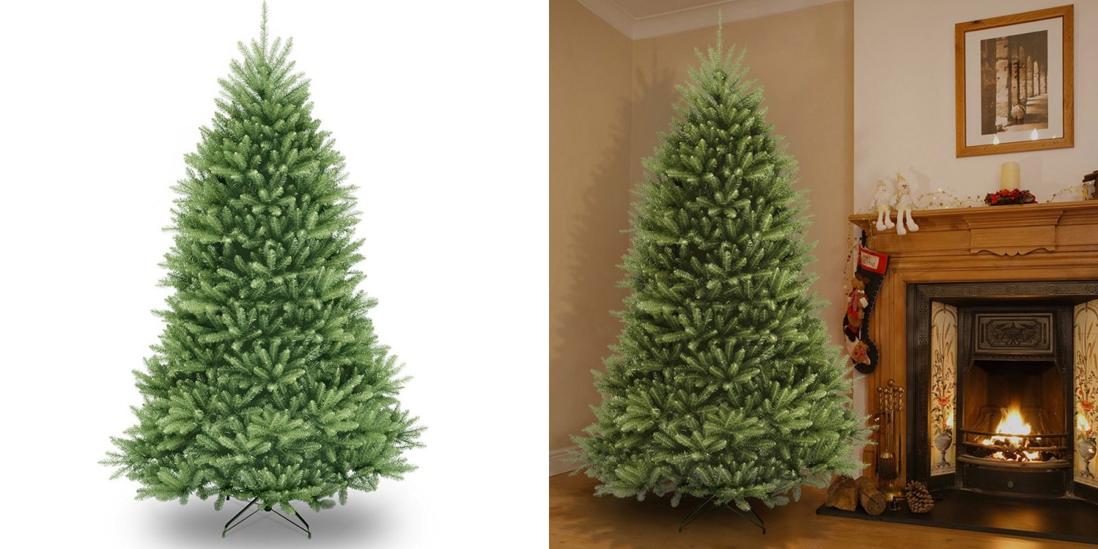 save on an artificial christmas tree from amazon 75 ft dunhill fir for 100 more - Amazon White Christmas Tree