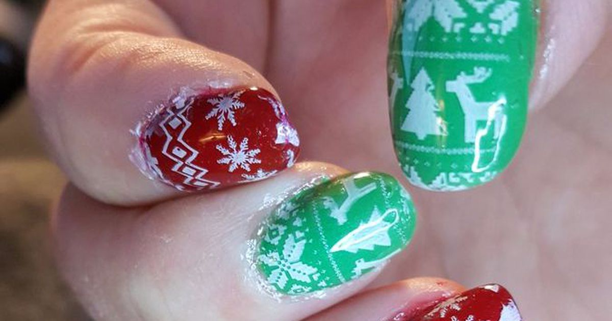 Ugly Sweater Nails Are The Merriest Trend In Holiday Nail Art Anith