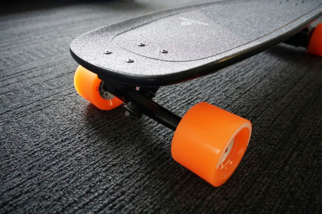 The concave design makes it easier to stay on the board.
