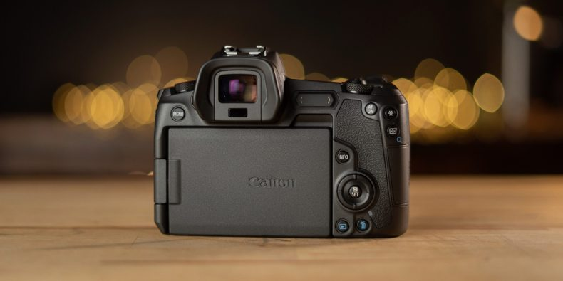 Back of Canon EOS R