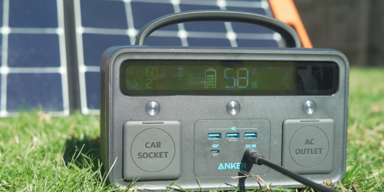 charging the Powerhouse 400 with solar panels.