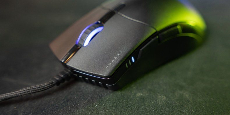 Quickstrike buttons on the Corsair Sabre RGB Pro