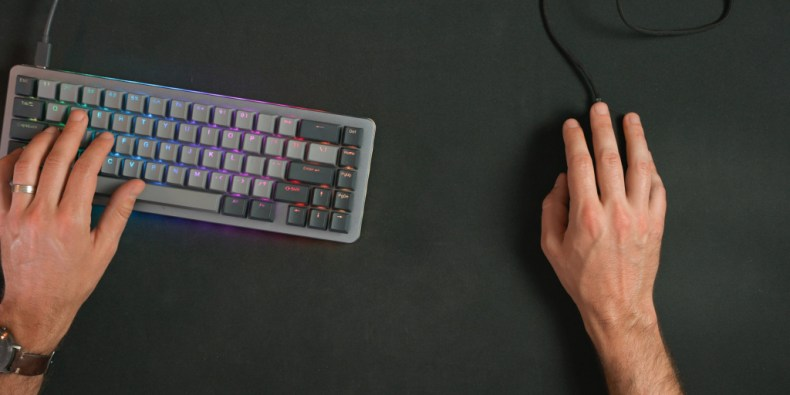 The Corsair Sabre RGB Pro is lightweight and makes large mouse movements easy.
