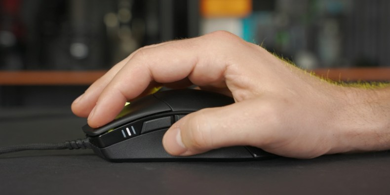 The mouse has a comfortable ergonomic feel.