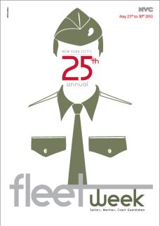 Series of 3 posters for Fleet Week, NY // Série de 3 affiches promouvant Fleet Week, NY // 2012, Paris, France.