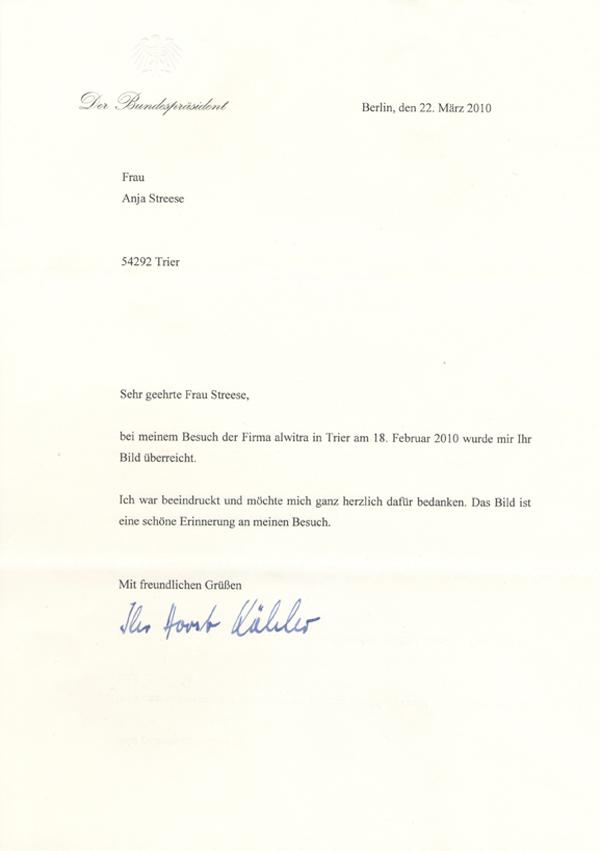 Horst Köhler, Bundespräsident a.D.
