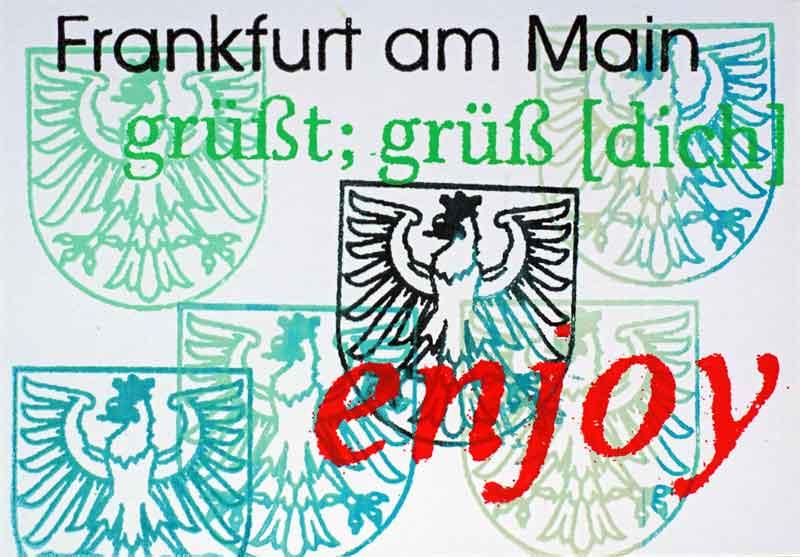 Frankfurt am Main Postkarte Wappen