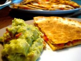 22. Quesadillas mit Guacamole