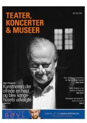 """Bjørn Nørgaard på forsiden af """"Teater, koncerter, museer"""" - et Jysk Fynske Medier tillæg fra 31. august 2018."""