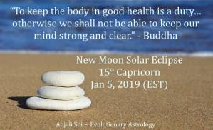 Solar eclipse Capricorn