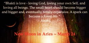 New moon Aries