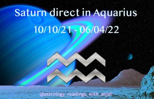 Saturn Direct Aquarius Retrograde