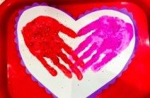 Valentines Day Hand Prints
